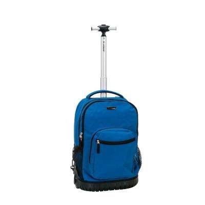 19 in. Blue Rolling Backpack