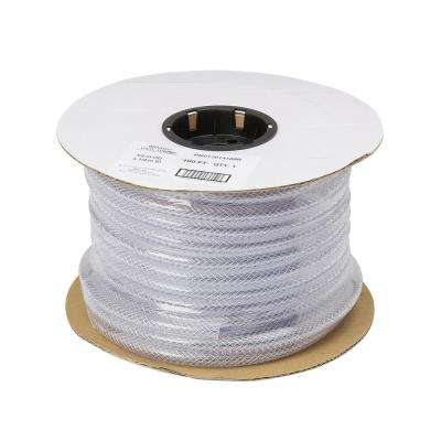 2 in. OD x 1-1/2 in. ID x 50 ft. Braided Clear Vinyl Tubing