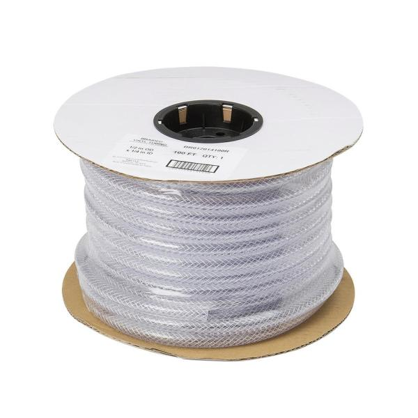 1/2 in. O.D. x 1/4 in. I.D. x 100 ft. Braided Clear Vinyl Tubing