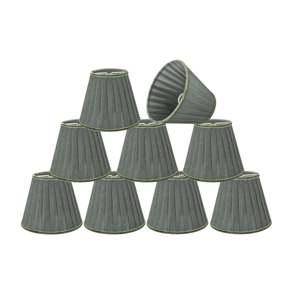 5 in. x 4-1/4 in. Dark Grey Pleated Empire Lamp Shade