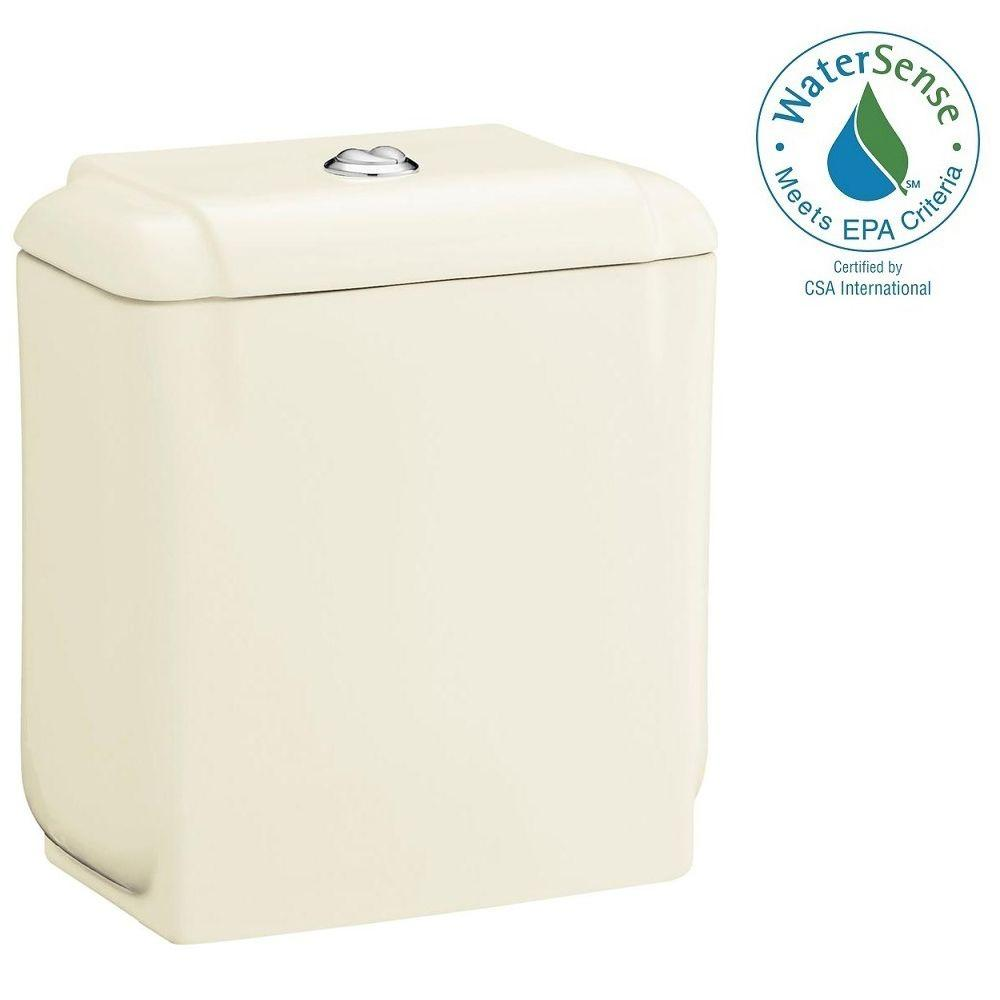 STERLING Rockton 0.8/1.6 GPF Dual Flush Toilet Tank Only in Biscuit