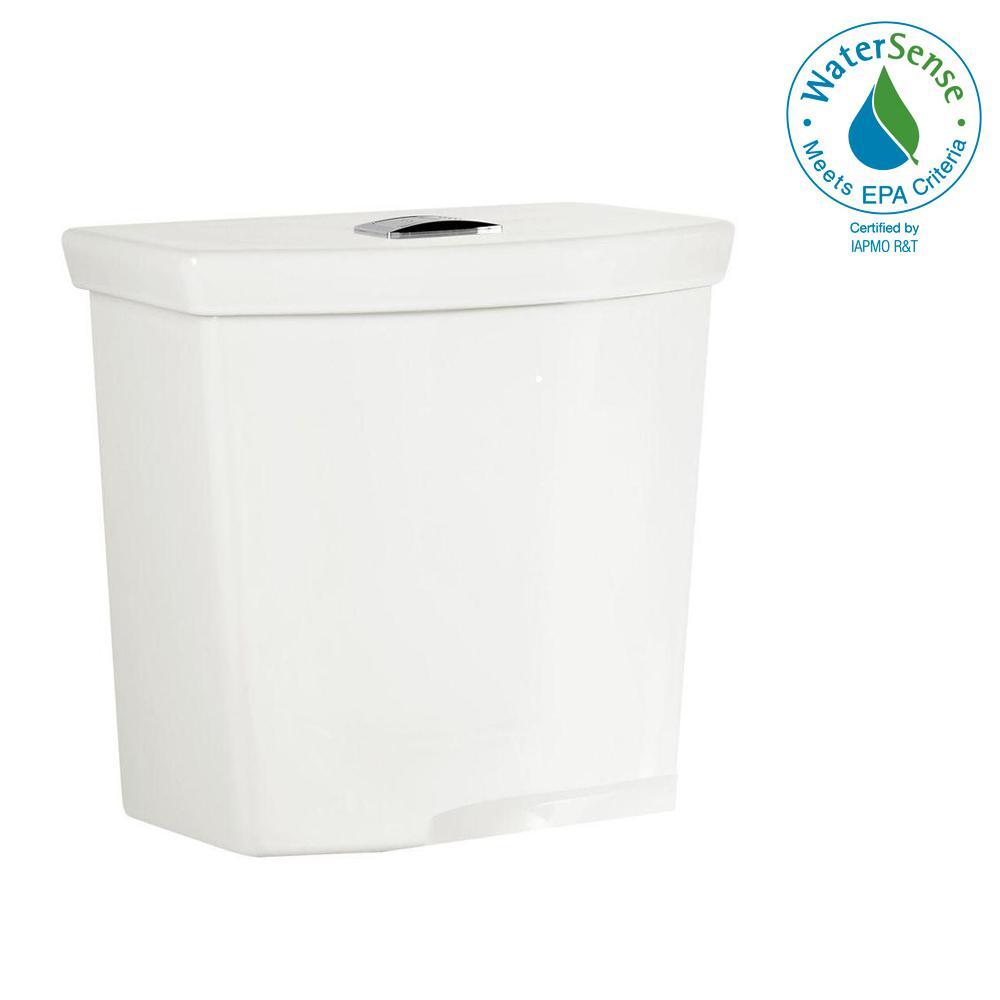 H2Option 0.92/1.28 GPF Dual Flush Toilet Tank Only in White