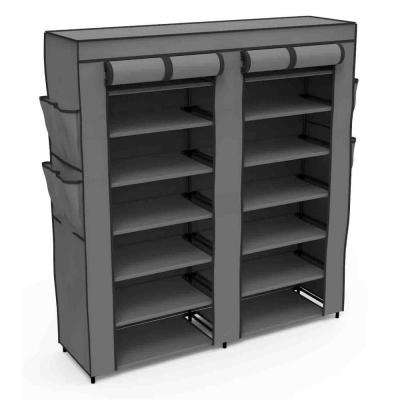 45.3 in. D x 12 in. W x 49.2 in. H Navy Polyester Closet System