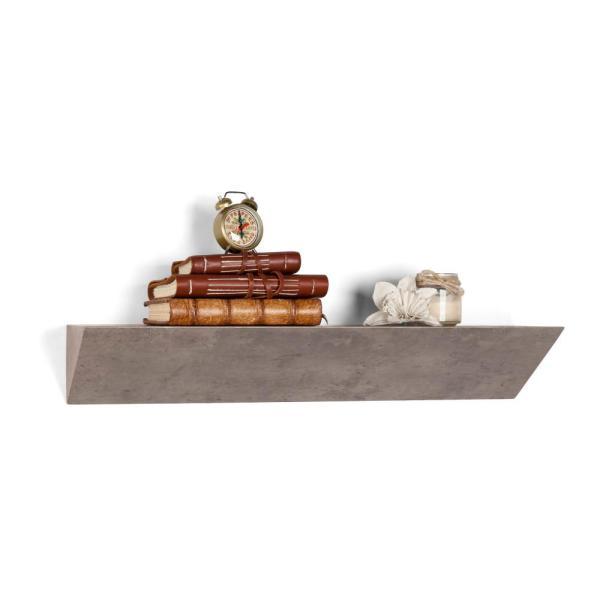 DANYA B Contempo Gray Faux Stone MDF Triangular Ledge Floating Wall