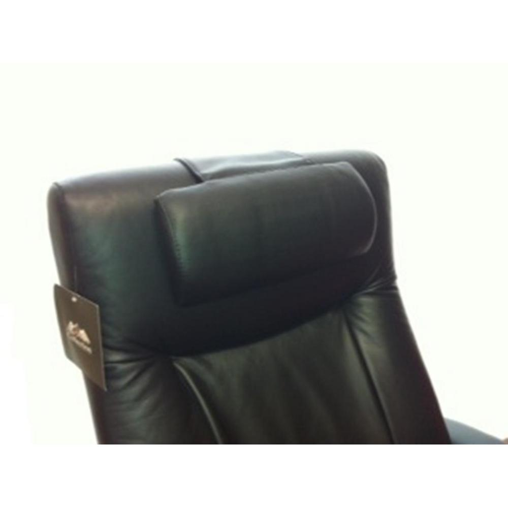 Mac Motion Chairs Oslo Collection Black Top Grain Leather Cervical Pillow