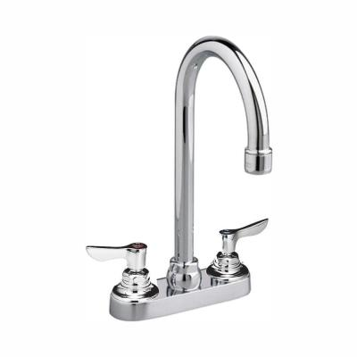 Monterrey 4 in. Centerset 2-Handle 1.5 GPM Gooseneck Bath Faucet with Vandal-Resistant Lever Handles in Polished Chrome