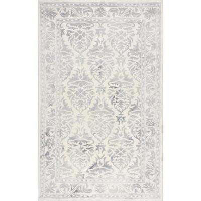 Krause Grey 9 ft. 6 in. x 13 ft. 6 in. Area Rug