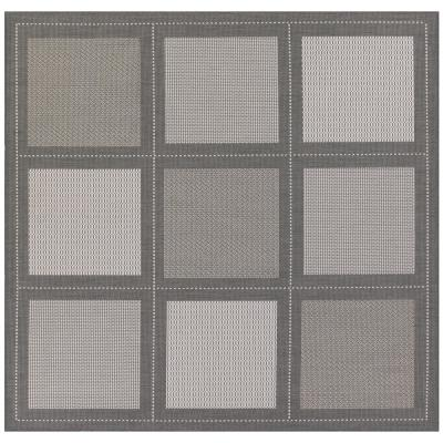Recife Summit Grey-White 8 ft. x 8 ft. Square Indoor/Outdoor Area Rug