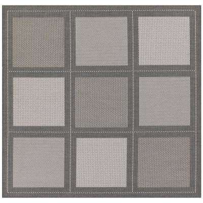 Recife Summit Grey-White 9 ft. x 9 ft. Square Indoor/Outdoor Area Rug