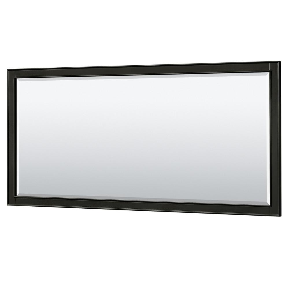 Deborah 70 in. W x 33 in. H Framed Wall Mirror in Dark Espresso
