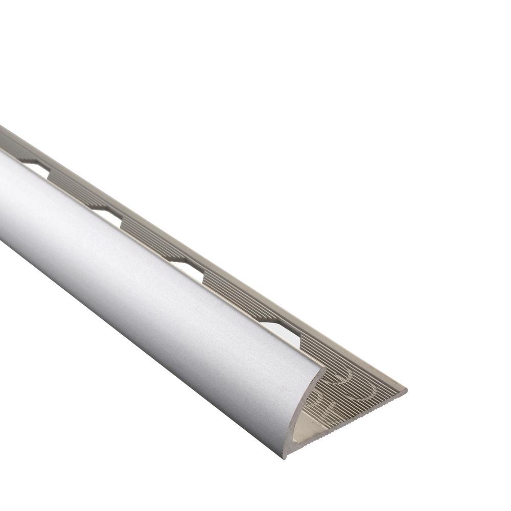 Emac Novocanto Matt Silver 3/8 in. x 98-1/2 in. Aluminum Tile Edging Trim
