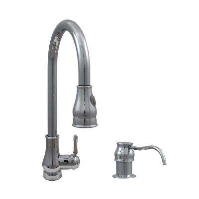Baltic Modern Single-Handle Pull-Down Sprayer Kitchen Faucet in Polished Chrome