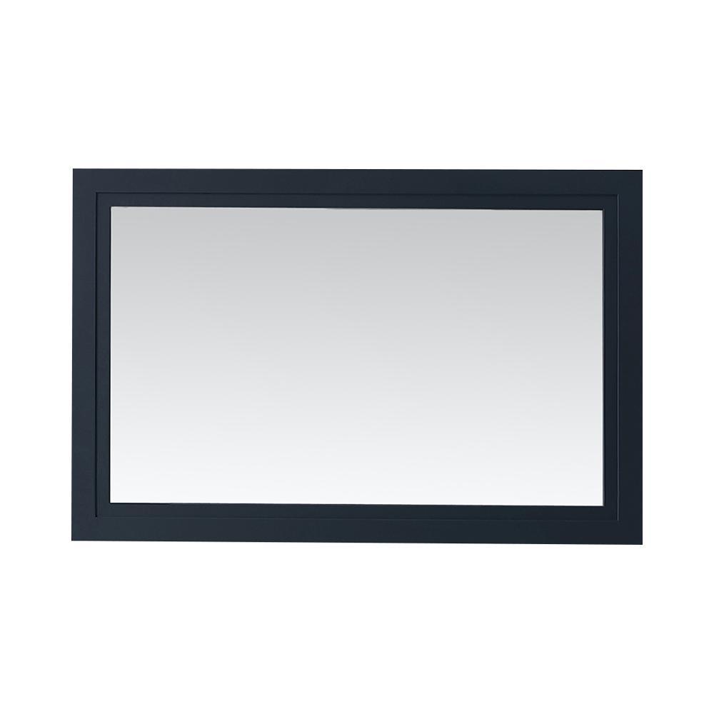 Lynn 30 in. x 46 in. Framed Mirror in Midnight Blue