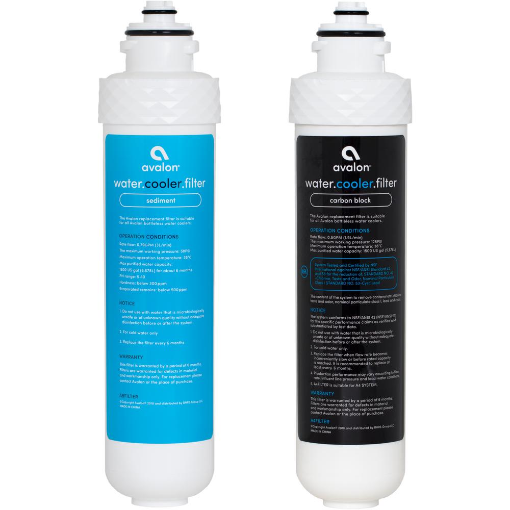 Avalon 2 Stage Replacement Filters for Avalon Bottleless Water Coolers NSF Certified 1500 Gal., Purchased After April 1, 2018