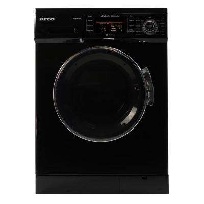 1.6 cu. ft. All-in-One Compact Combo Washer and Electric Dryer with Optional Condensing/Venting and Sensor Dry in Black