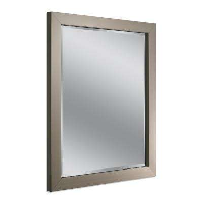 Elegant Modern 26 in x 32 in Mirror in Brushed Nickel Simple Elegant - Inspirational 30 x 30 bathroom mirror Awesome