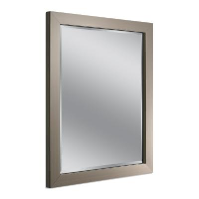 Modern 26 in. x 32 in. Mirror in Brushed Nickel