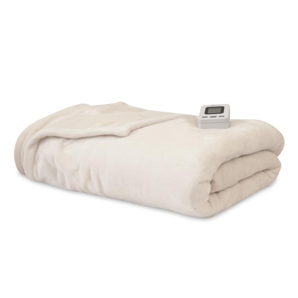 Ivory Polyester Fleece Full Warming Blanket