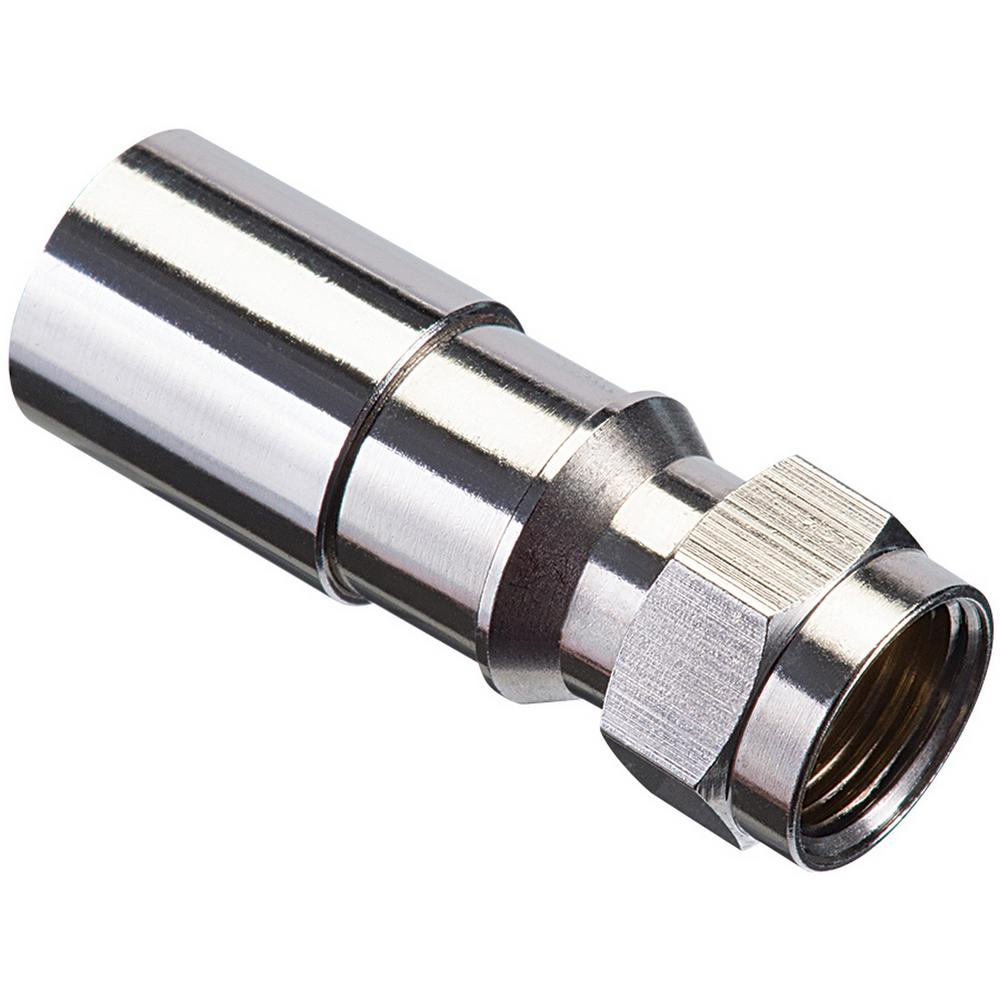 Ideal RG6/6Q F Compression Connector RTQ XR (100 per Pack)-92-656 ...