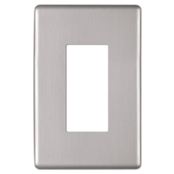 Kentley 1 Gang Rocker Steel Wall Plate - Brushed Nickel