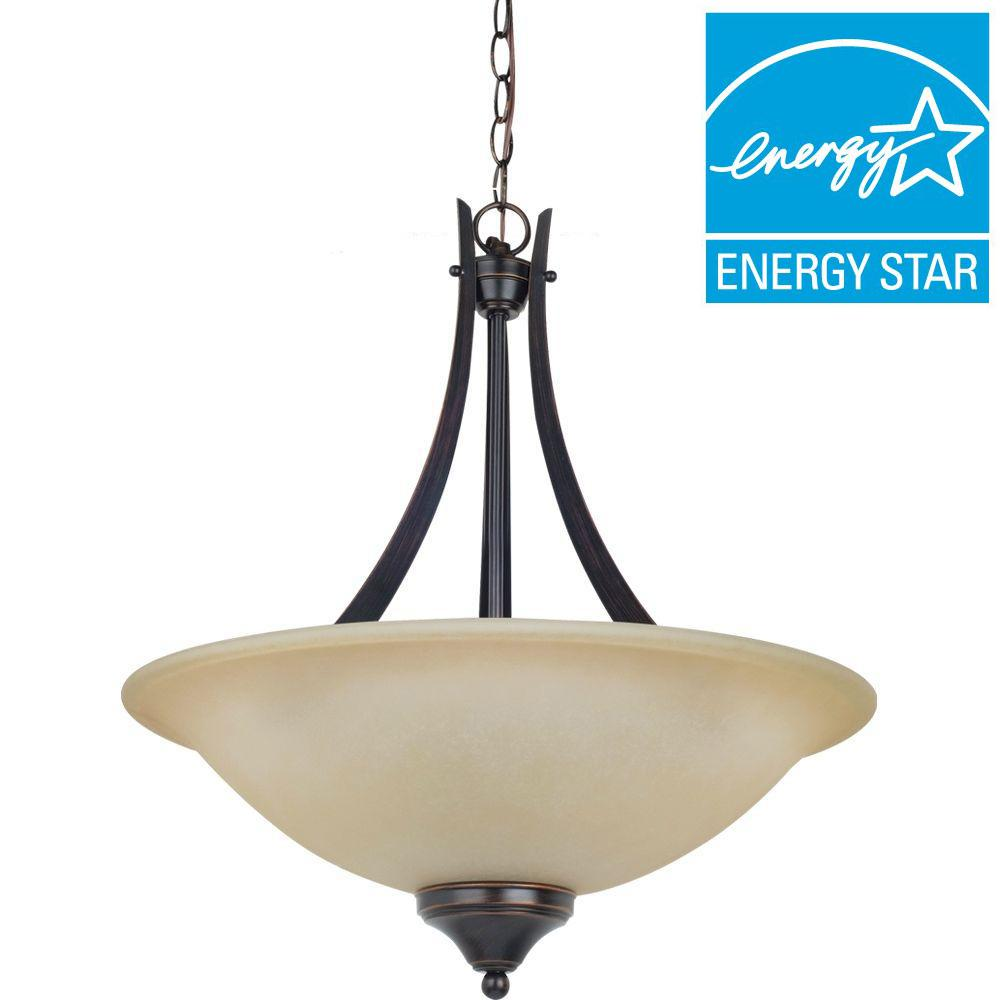 Sea Gull Lighting Brockton 3-Light Burnt Sienna Pendant