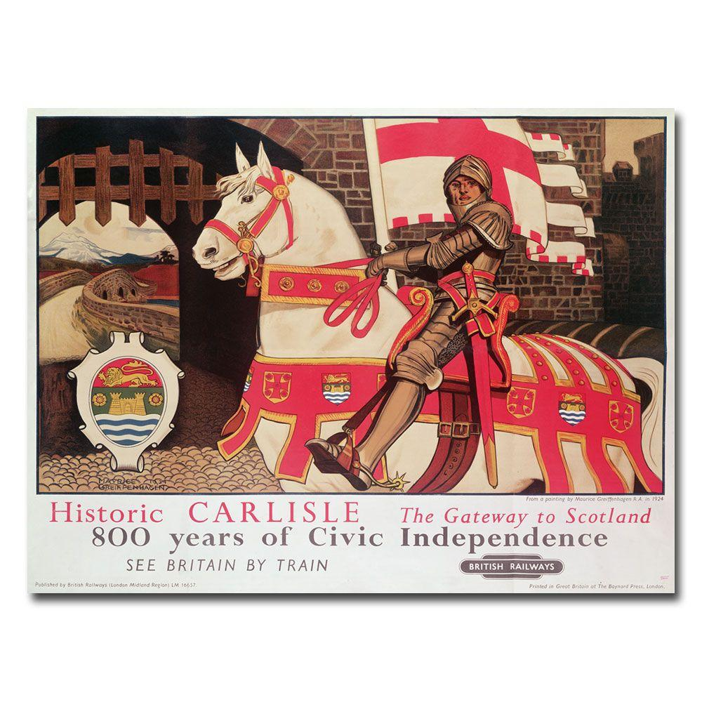 Trademark Fine Art 18 in. x 24 in. Getaway to Scotland 1924 Canvas Art