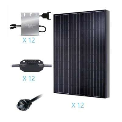 3000-Watt Monocrystalline Solar Kit for On-Grid Solar System