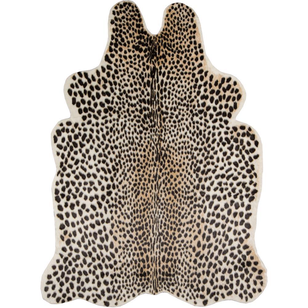 Cheetah Multi 5 ft. 3 in. x 7 ft. 10 in. Area Rug