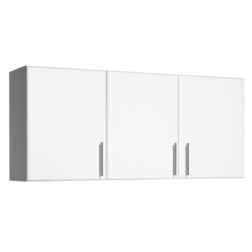Prepac Elite 54 In 3 Door Wall Cabinet In White Wew 5424