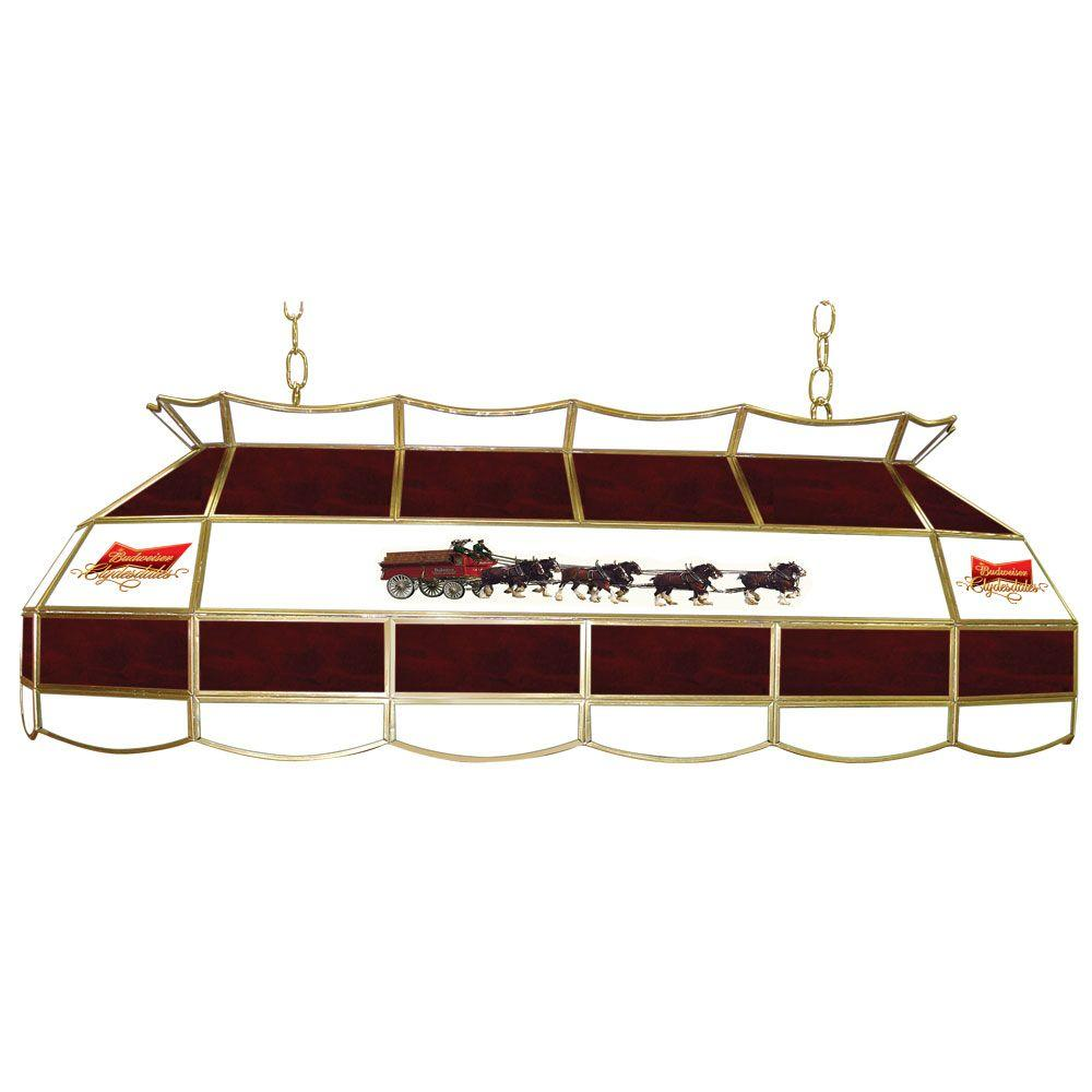 Trademark Global Budweiser Clydesdale 3-Light Stained