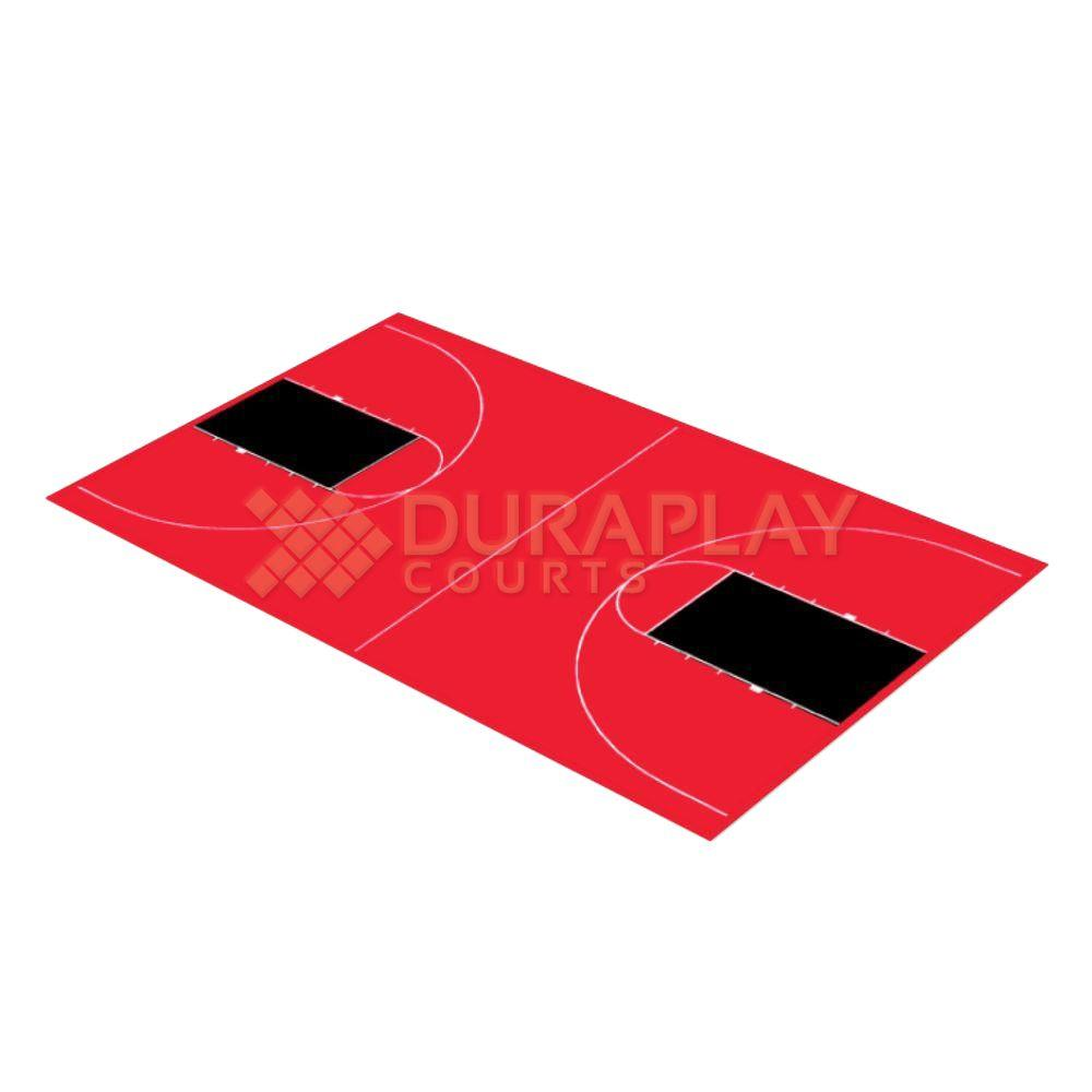 43 ft. 10 in. x 75 ft. 7 in. Red and