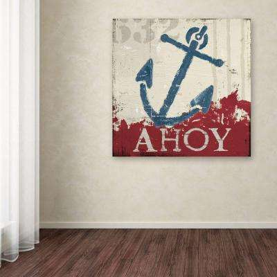 "35 in. x 35 in. ""Nautical IV Red"" by Wellington Studio Printed Canvas Wall Art"