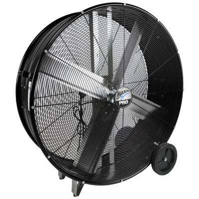 PRO 42 in. 2 Speed Drum Fan with Hanging Receivers