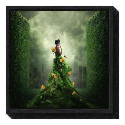 """Go Green"" by Hardibudi Framed Canvas Wall Art"