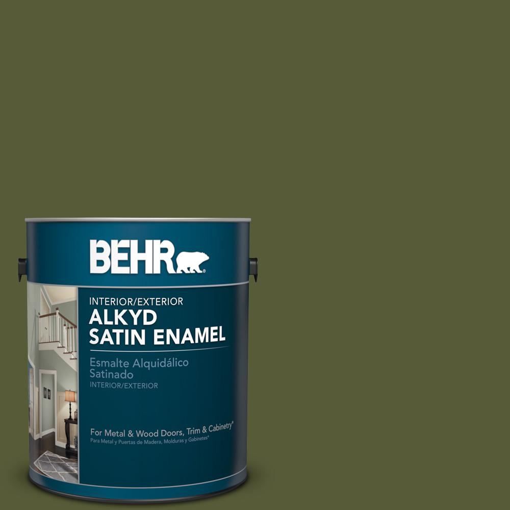 1 gal. #PPU9-25 Eastern Bamboo Satin Enamel Alkyd Interior/Exterior Paint