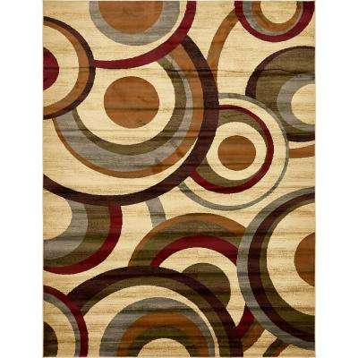 coffee shop beige 9 ft x 12 ft area rug