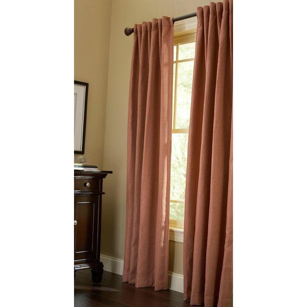 Martha Stewart Living Thermal Tweed Room Darkening Window Panel in Cinnamon Stick - 50 in. W x 84 in. L