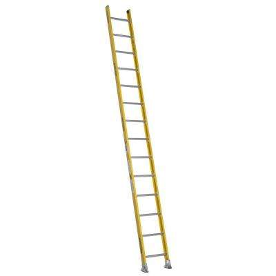 14 ft. Fiberglass Round Rung Straight Ladder with 375 lb. Load Capacity Type IAA Duty Rating