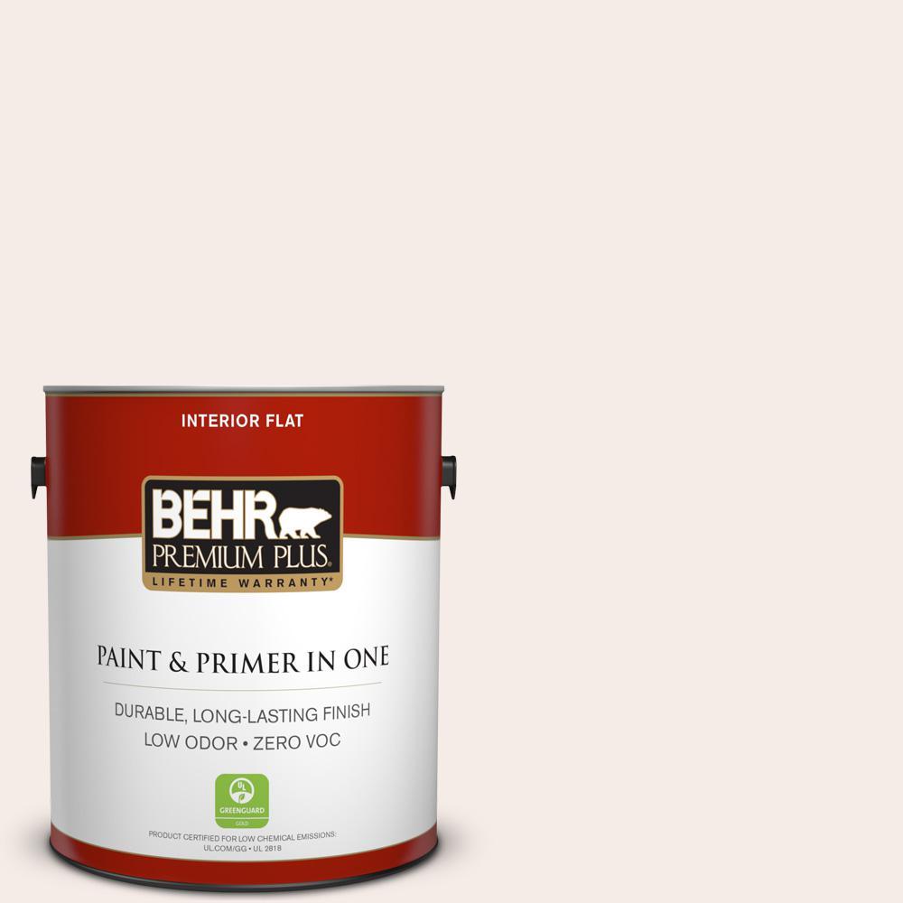 BEHR Premium Plus 1-gal. #ECC-61-2 Stonewashed Pink Zero VOC Flat Interior Paint