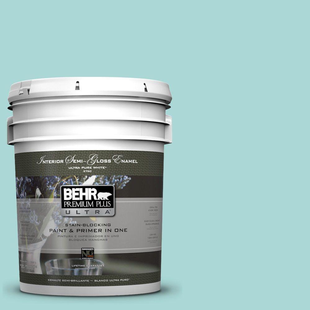 5-gal. #510C-3 Rivers Edge Semi-Gloss Enamel Interior Paint