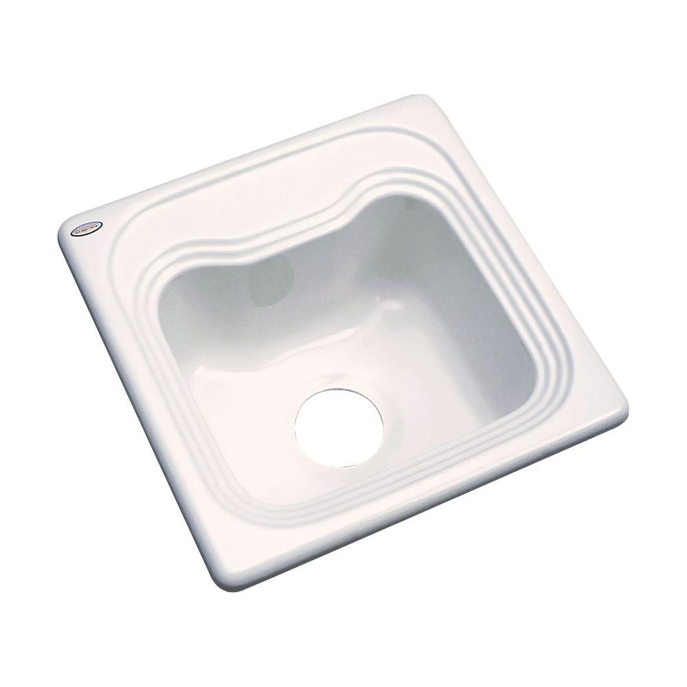 Thermocast Oxford Drop-In Acrylic 16 in. Single Basin Bar Sink in Bone