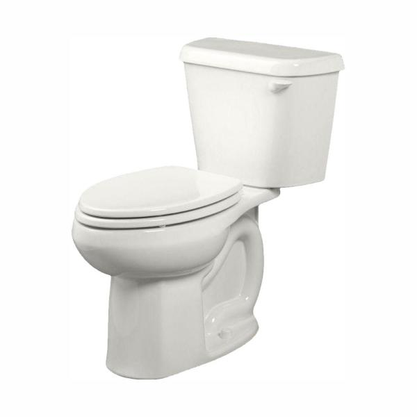 American Standard Colony 2 Piece 1 28 Gpf Tall Height Elongated Toilet In White With Right Hand Trip Lever Seat Not Included 221aa105 020 The Home Depot