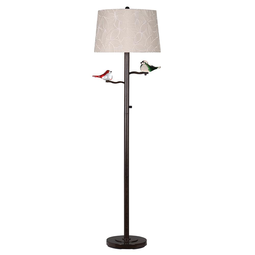 Springdale lighting finch 58 in oil rubbed bronze floor lamp with oil rubbed bronze floor lamp with fabric shade aloadofball Gallery
