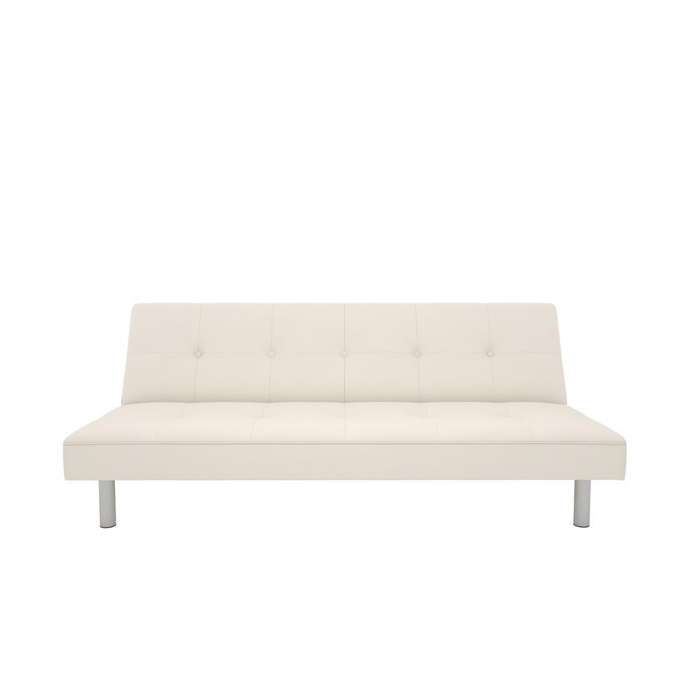 Dhp Nina White Futon Sofa Bed