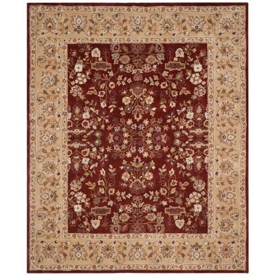 Total Performance Rust/Green 4 ft. x 6 ft. Area Rug
