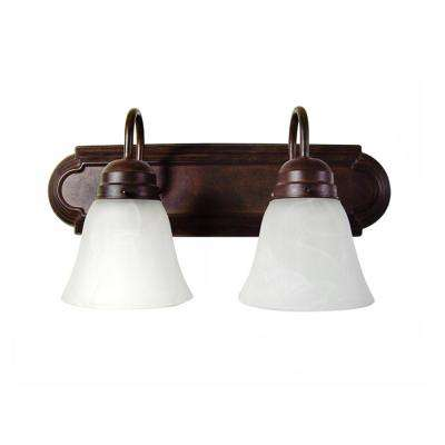 Monica 2-Light Dark Brown Bath Vanity Light