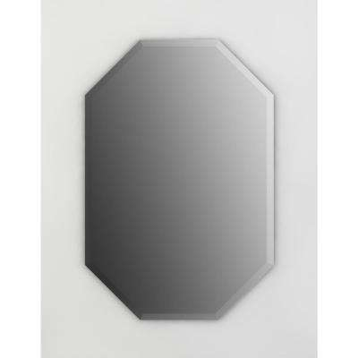 27 in. x 40 in. (L3) Octagonal Frameless TRUClarity Deluxe Glass Mirror with Easy-Cleat Flush Mount Hardware