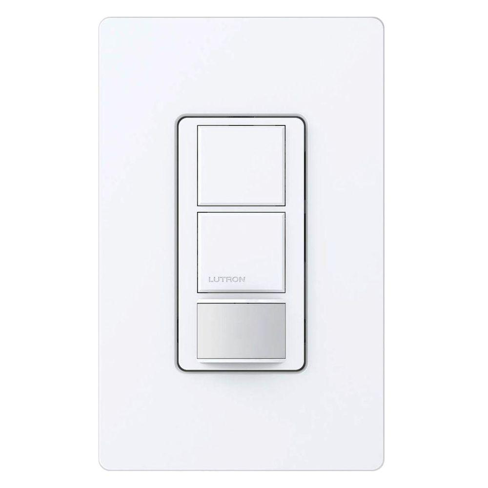 Lutron Maestro 5 Amp Vacancy Sensor Switch Single Pole Or Multi Lighting Wiring Diagram Location White Ms Vps5mh Wh The Home Depot