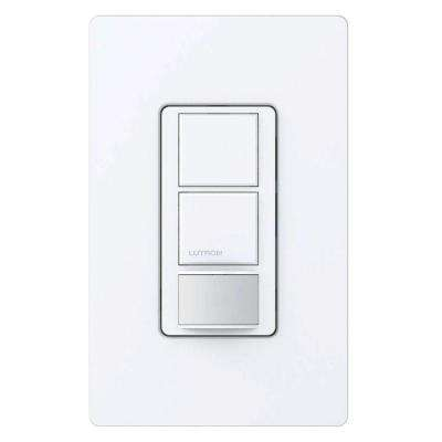 Maestro Dual Circuit Motion Sensor Switch, 6 Amp, Single Pole, White