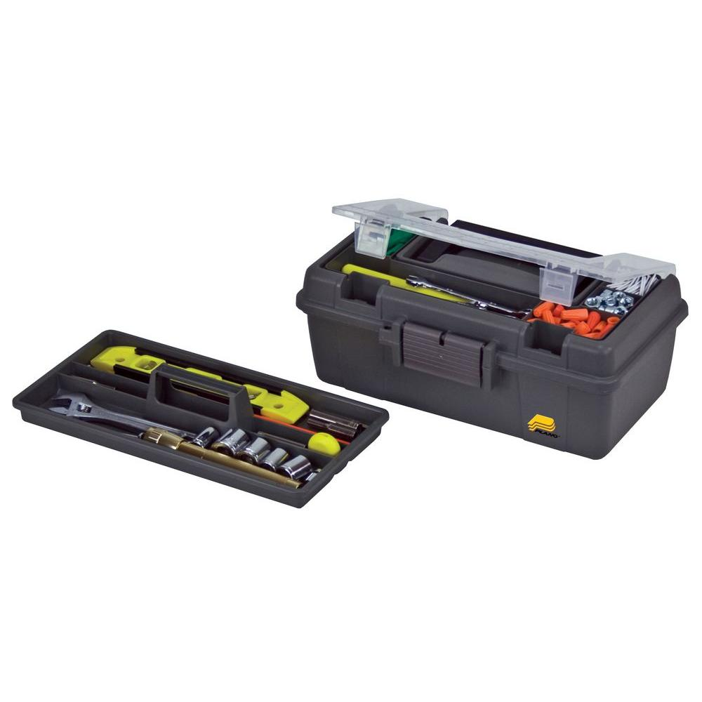 13 in. Compact Tool Box with Tray